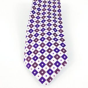 Brioni Silk Tie Handmade in Italy Diamond Pattern